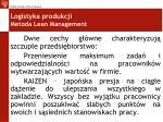 logistyka produkcji metoda lean management1