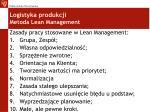 logistyka produkcji metoda lean management2