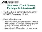 how were i track survey participants interviewed