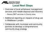 local next steps