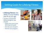 setting goals for lifelong fitness