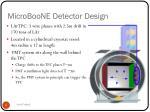 microboone detector design