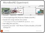 microboone experiment