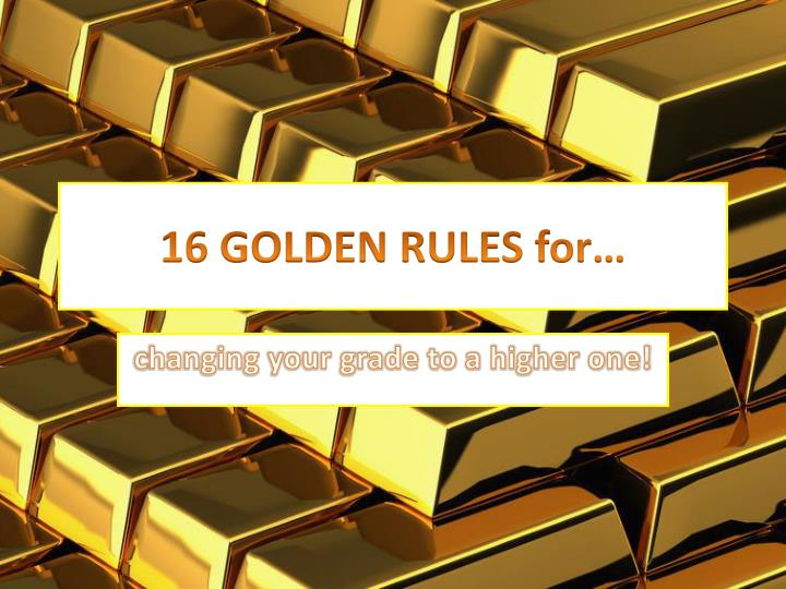 16 golden rules for n.