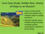 core case study golden rice grains of hope or an illusion1