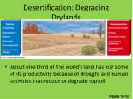 desertification degrading drylands