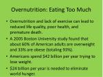 overnutrition eating too much