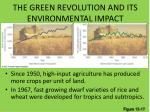 the green revolution and its environmental impact