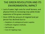 the green revolution and its environmental impact1