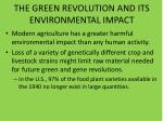 the green revolution and its environmental impact2