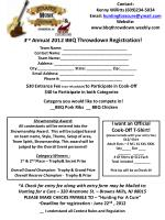 3 rd annual 2012 bbq throwdown registration