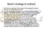 nano s strategy to setback