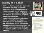 history of e books