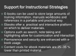 support for instructional strategies