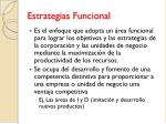 estrategias funcional