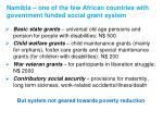 namibia one of the few african countries with government funded social grant system