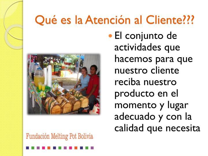 Qu es la atenci n al cliente
