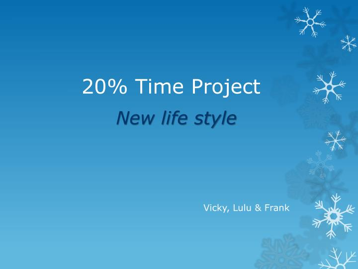 20 time project n.