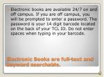 electronic books are full text and keyword searchable