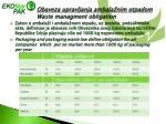 obaveza upravljanja ambala nim otpadom waste managment obligation