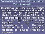comentarios a la ley del impuesto al valor agregado2