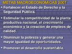 m etas macroeconomicas 2007
