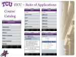 itcu suite of applications3