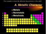 a metallic character