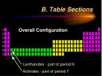 b table sections1