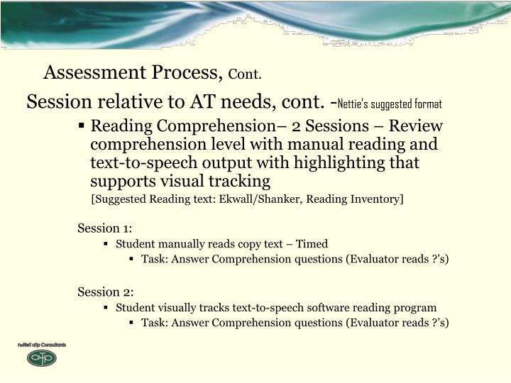 Assessment Process,