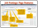job postings page features