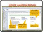 joblink dashboard features