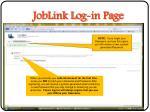 joblink log in page