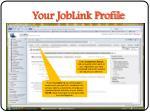 your joblink profile