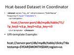 hcat based dataset in coordinator