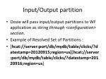 input output partition