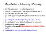 map reduce job using hcatalog