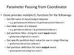 parameter passing from coordinator