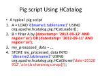 pig script using hcatalog