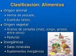 clasificaci n alimentos