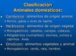 clasificaci n animales dom sticos