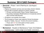 summer 2014 sad outages