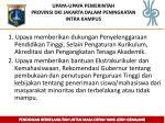 upaya upaya pemerintah provinsi dki jakarta dalam peningkatan intra kampus