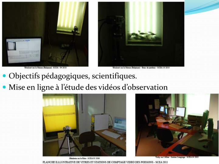Objectifs pédagogiques, scientifiques.