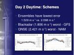 day 2 daytime schemes