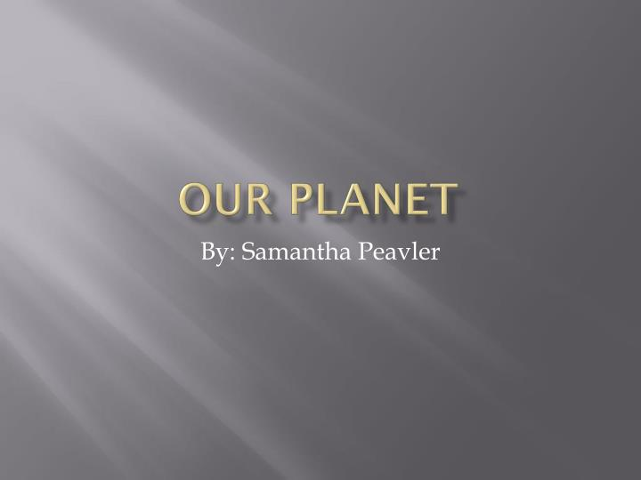 our planet n.