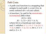 path costs
