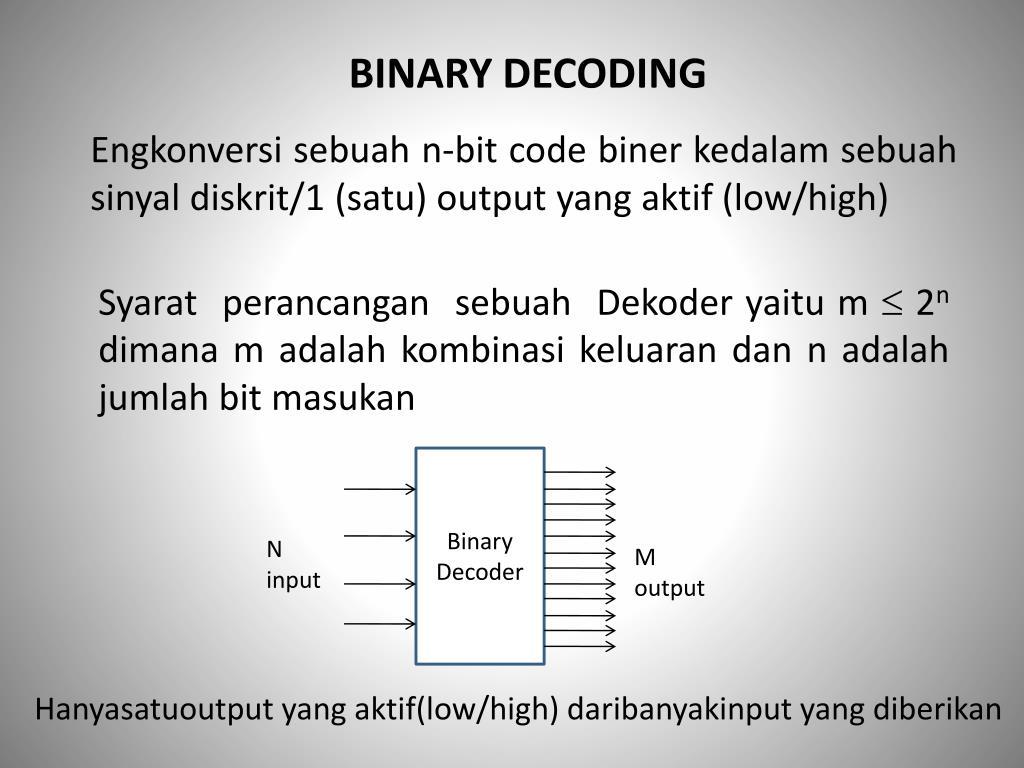 PPT - BINARY DECODING PowerPoint Presentation - ID:6505107