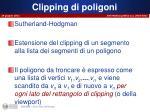 clipping di poligoni