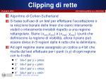 clipping di rette